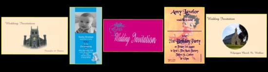 Posters, invites, business cards, letterheads, wedding stationery...